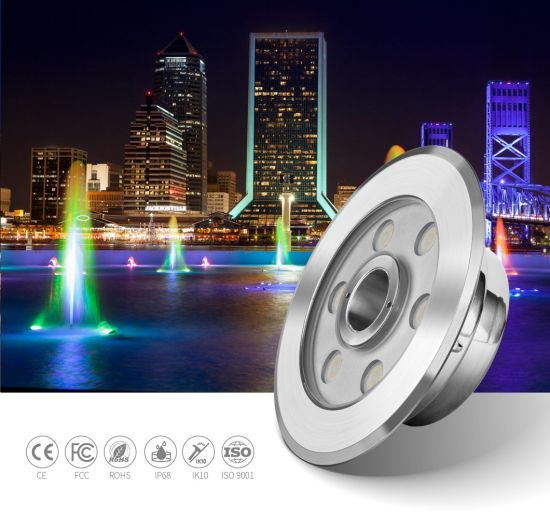 IP68 Low Voltage 12V 24V 9W 12W RGB LED Fountain Swimming Pool Pond Dock Waterfall Underwater Lights
