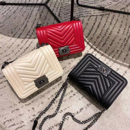 Hot Sale Chevron Designer Trendy Lady Handbag Shoulder Sling Bag Purse
