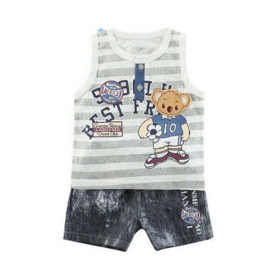 Wholesale Online Printed Design Baby Boy Summer Short Set