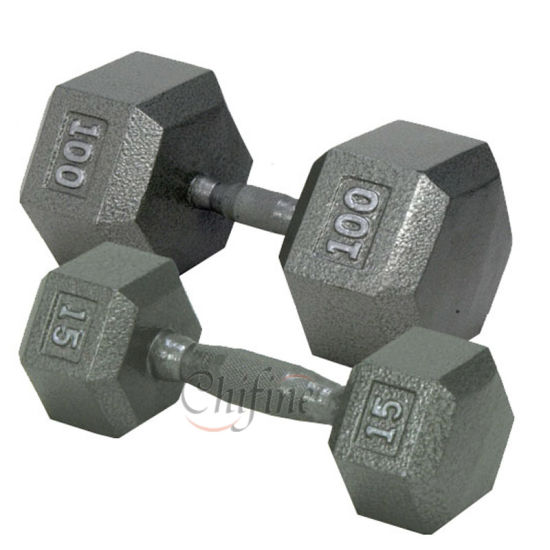 Customized Cast Iron Gym Fitness Dumbbell Set pictures & photos
