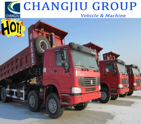Low Price Good Condition Widely Used 8X4 Heavy Duty 12 Wheeler 375HP Sinotruck HOWO Dumper Truck for Africa Market