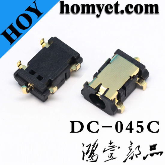 DIP Type DC Power Jack with Gold-Plated (DC-045C) pictures & photos