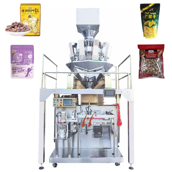 Mushroom/Walnuts/Plum/Peanuts/Almonds Food Automatic Packing Packaging Line Machine with Multi-Head Weigher