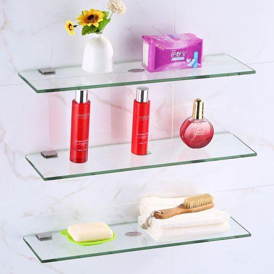 8mm High-Quality Bathroom Toughened Glass Shelf for Living Romm/Home Decor