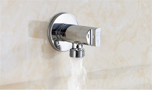 Brushed Square Brass Bathroom Accessory Angle Valve pictures & photos