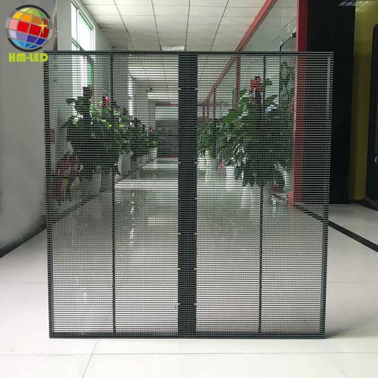 P3.91 - 7.82 Glass 1/16 Scan Transparent LED Display Screen