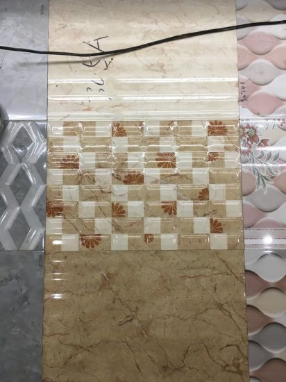China 300x600mm Warm Flower Design Ceramic Wall Tiles For Living