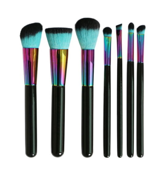 ABS Plated Multi -Color Makeup Brush Set pictures & photos