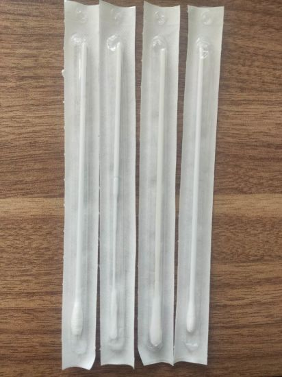 Medical Disposable Nasopharyngeal Sterile Nylon Throat Nasal Swab, Virus Sample Collection Flocked Swabs Stick
