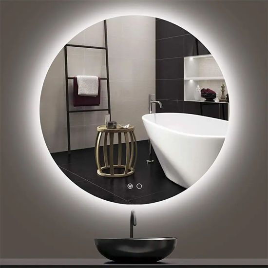 Illuminated Mirror Manufacturer of Round Circle Backlit Lighted LED Mirror for Bathroom