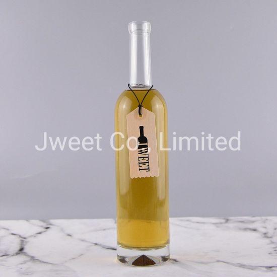 Factory Wholesale High Round Liquor Glass Bottle 500ml Clear Color