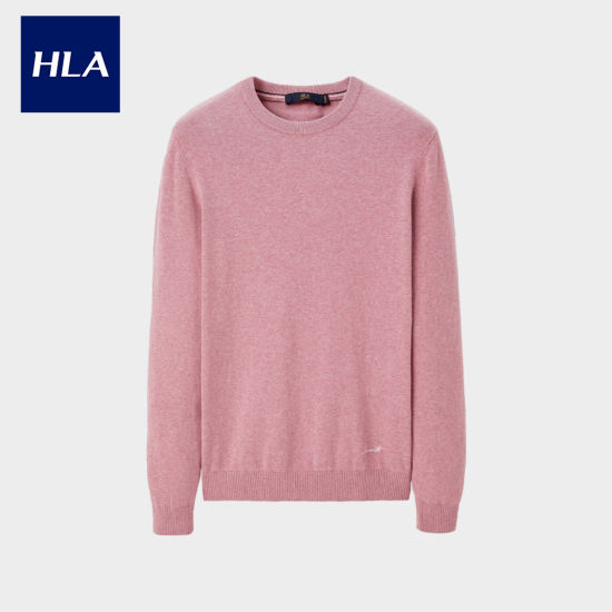 Hla Comfortable Round Neck Long-Sleeved Sweater Soft and Simple Sweater Men pictures & photos