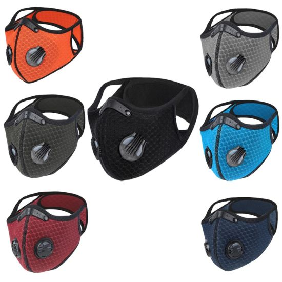 Wholesale Protective Black Custom KN95 Pm2.5 Mouth Disposable Dust Filter Cycling Half Face Sports Masks
