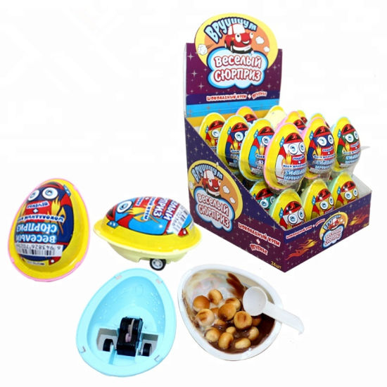 12g Racing Car Chocolate Egg with Biscuit
