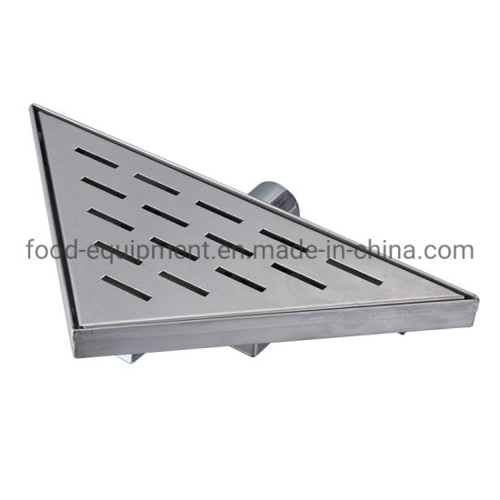 Triangular Bath Room Stainless Steel Shower Drain Trench Drain