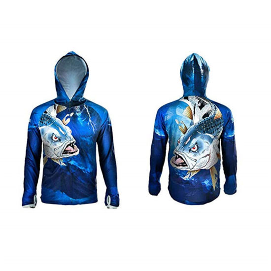 Wholesale Custom Coats Outdoor Shirts Long Sleeve Hoodies Sport Fishing Clothes Casual Wear