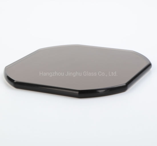 Colored Tempered Safety Glass Round Rectangle Table Top