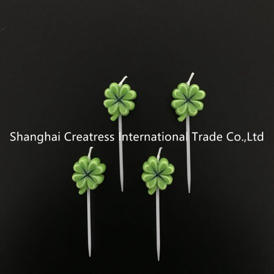 Cool China Top Mini Lucky Cute Clover Candles For Birthday Cakes Funny Birthday Cards Online Inifofree Goldxyz