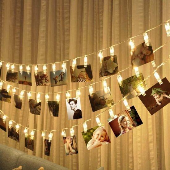 Ideal Gift Hanging LED Photo Clips Decorative Lights String Holder
