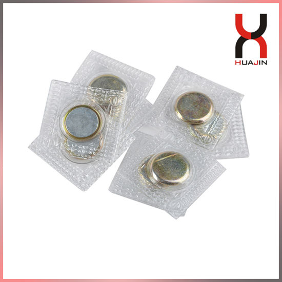 Free Samples PVC Disc Magnetic Snaps Sew-in for Garments/Clothes