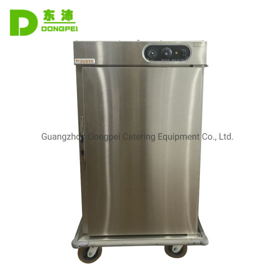 Commercial Stainless Steel Single Door Mobile Food Warmer Cart pictures & photos