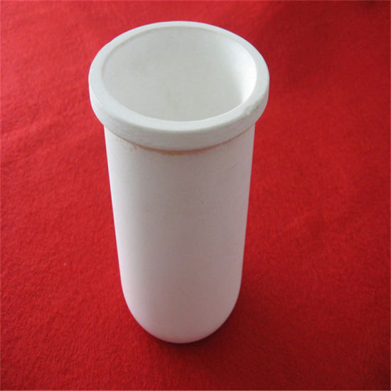 High Temperature Cylindrical Magnesia Ceramic Crucible pictures & photos
