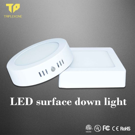 LED Panel Light 6W/12W/15W/18W/24W Recessed Surface Mounted Round Square LED Light Panel LED Panel LED Ceiling Light