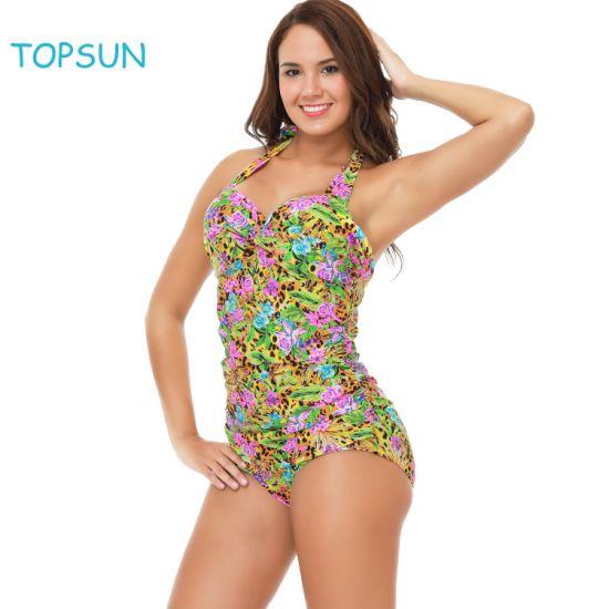 Women's One Piece Swimsuits Tummy Control Swimwear Slimming Bikinis Bathing Suits for Teens