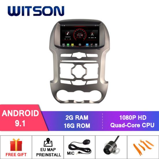 Witson Quad-Core Android 9.1 Car DVD Player for Ford Ranger Capactive 1024*600 Screen pictures & photos