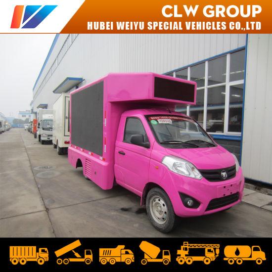 Foton 4X2 Mobile Digital Advertising Truck P4/P5/P6 LED Screen Full Color Display