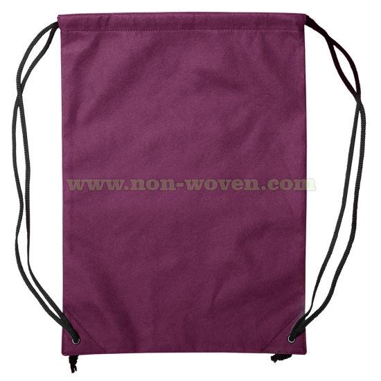 Non Woven Backpack Drawstring Bag 34# Maroon
