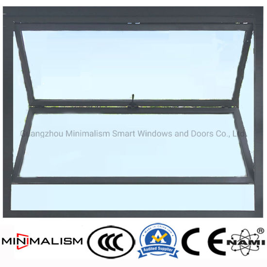 Building Material Aluminum Glass Folding Metal Window with 5+5mm Double Clear Glass
