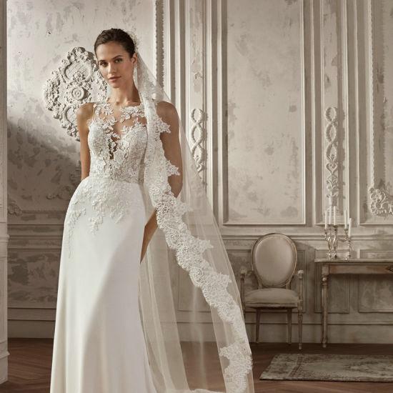 China Beach Lace Bridal Gowns Crew Spandex Satin Boho Wedding Dresses 2020 Z8031 China Wedding Dress And Bridal Dress Price,Beach Wedding Dress Ideas Plus Size