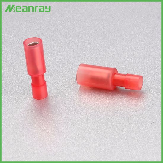 Red 22 16 Gauge Nylon Fully Insulated Female Quick Disconnect Wire Spade Crimp Terminal