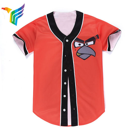 465a0016831 China Customized Polyester Sublimation Team Jersey Baseball Shirts ...