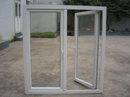 Wholesale High Quality Tempered Glass Plastic PVC Doors Windows/Casement Window