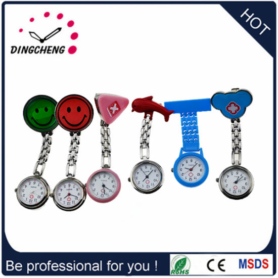 Alloy Case Silicon Material Strap Quartz Nurse Watch pictures & photos