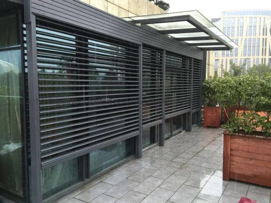 Customized Window Sun Ventilation Aluminum Metal Shutter Louver for Exterior Decorative