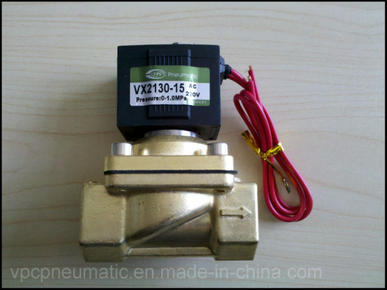 Vx2120-08 Direct Acting Viton Seal High Temprature Brass Solenoid Valve pictures & photos