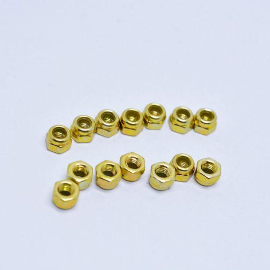 DIN985 Carbon Steel Yellow Zinc Plated Nylon Lock Nut