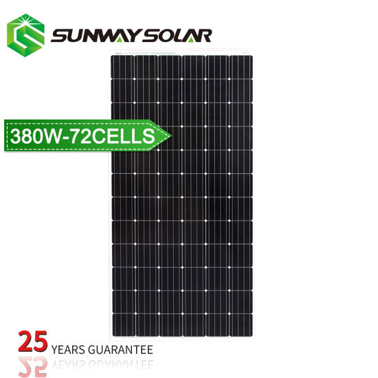 Free Shipping 370W and 380 Watt 72 Cell PV Mono Solar Panels pictures & photos