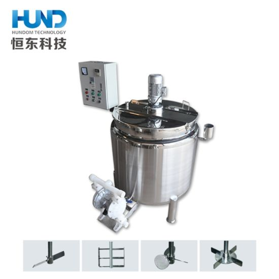 China Jacketed Heated Stainless Steel Mixing Tank With