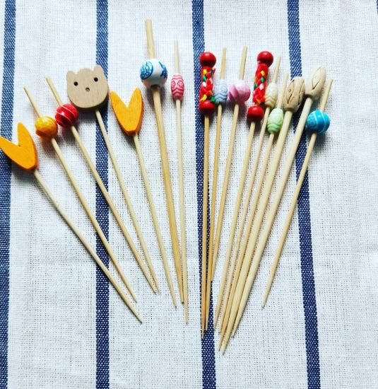 Hot-Sell Eco Bamboo Fashionable Design Food Skewer/Stick/Pick (BC-BS1029) pictures & photos