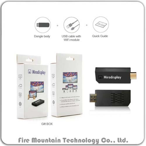 F3 Mirascreen Wireless Dongle Support Phone PC Projector