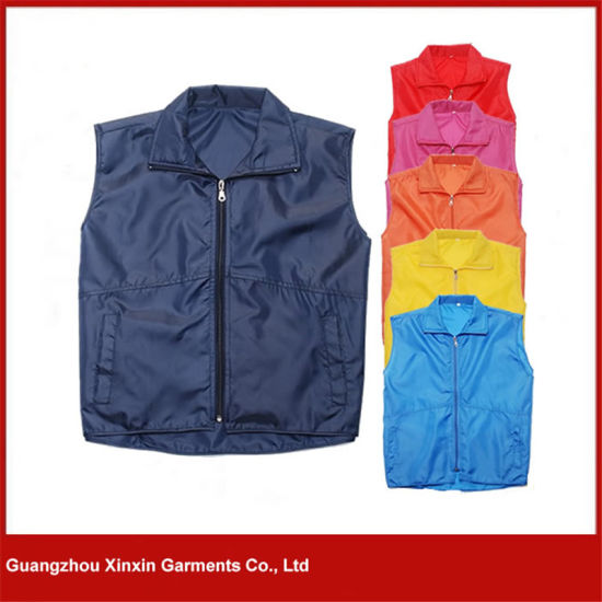 Design Promotional Cheap Polyester Waistcoat for Men and Women (V32) pictures & photos