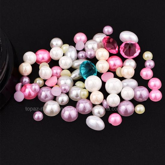 China Nail Jewelry Box Colorful Rhinestones Crystal Mini Steel