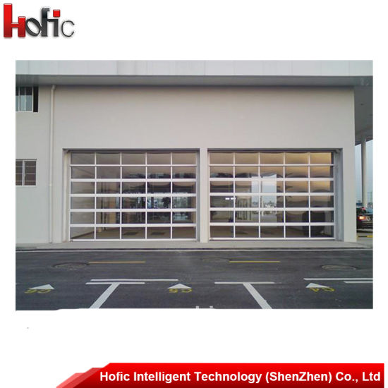 China Automatic Sectional Overhead Glass Garage Door With Windows