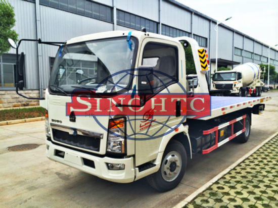 3 tons small wrecker tow truck, Sinotruk Flatbed Slide Wrecker Truck pictures & photos