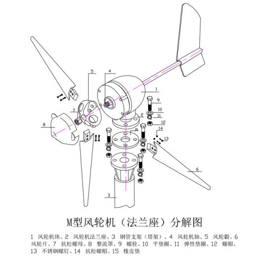 China Wind Power Generator Type 400W Wind Turbine for Sale