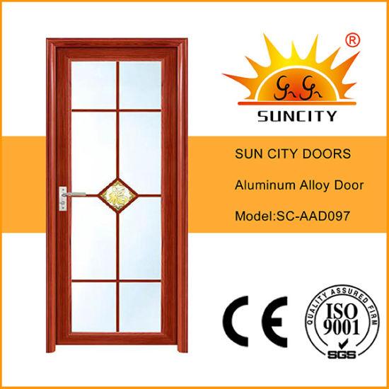 Glass Single Door Aluminium Cabinet Doors for Kitchen (SC-AAD097)